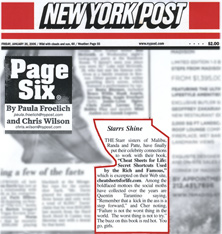 New York Post: Page Six Excerpt